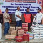 Abdya Terima Bantuan Bencana dari BPBA