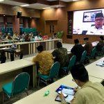 Plt Gubernur Tinjau Kinerja SKPA Melalui Video Conference