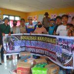 Pemuda Bathin wih Pongas Salurkan Bantuan Untuk Korban Banjir Bandang