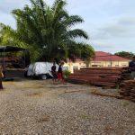 Polres Abdya Amankan Kayu Ilegal Logging