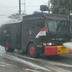 Brimob Polda Aceh, Semprot Disinfektan di Abdya
