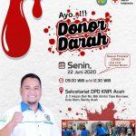 DPD KNPI Aceh Ajak Masyarakat Berdonor Darah