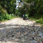 Jalan Penghubung Desa di Kecamatan Manggeng Rusak Parah