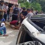 Kabur Dari Kejaran Polisi, Mobil dan Pemilik Sabu Jungkir Balik