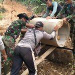 Satgas TMMD Kodim Abdya Tuntaskan Pemasangan Gorong-gorong